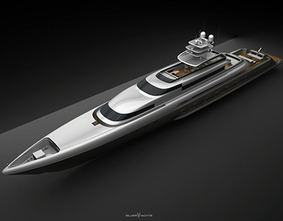 Silver Fast Yacht 3D Modelling and Visualization