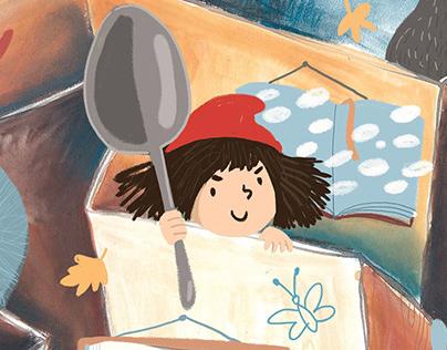 Poster for Book illustration festival