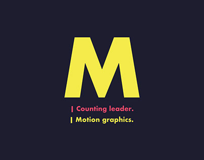 Counting Leader   MOTION GRAPHICS