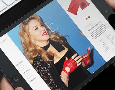Karma Exclusive Glove responsive website design concept