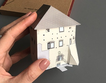 2008 Tailor's Tower: Paper model postcard design