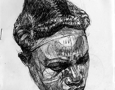 Colonial Portraits. Studies. Sketchbook.