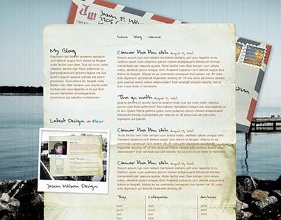 Travel Blog Site Design
