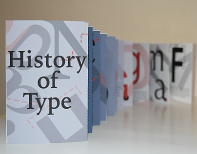 History Of Type Accordion Book