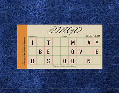 Bingo - Typographic Composition