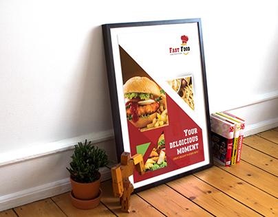 Fast Food Flyer Design (Free Mock up Psd)