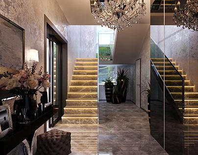 Дизайн-проект частного дома, стиль Арт-деко