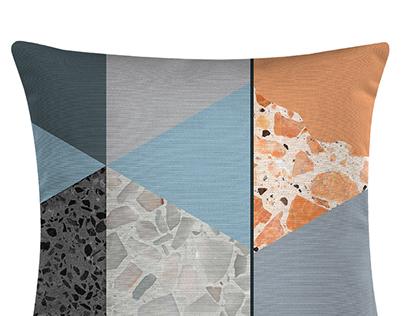 Terazzo Tiles Graphic Cushion