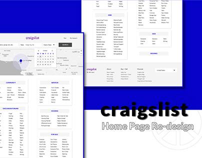 Craigslist Homepage Redesign   UI/Visual/Branding