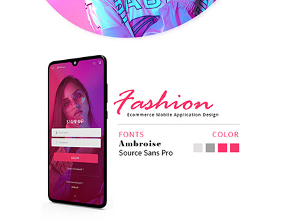 Fashion Mobile Application Design | UI/UX