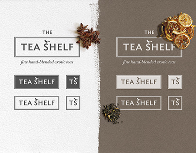 The Tea Shelf branding