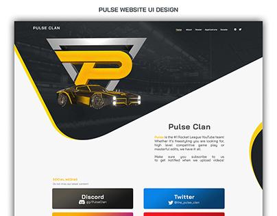 PULSE UI WEBSITE DESIGN