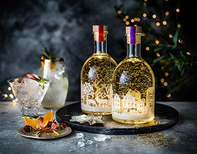 Marks & Spencer Christmas Snow Globe Gin packaging