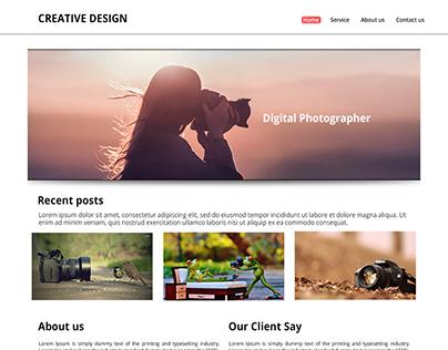 Digital Photography PSD Template