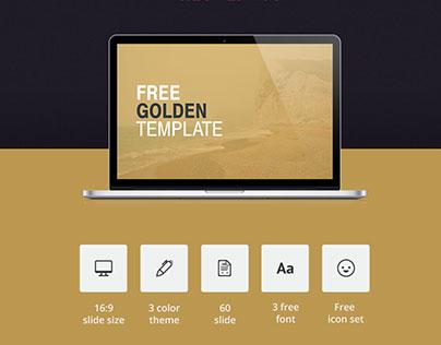 GOLDEN // Free PowerPoint presentation template
