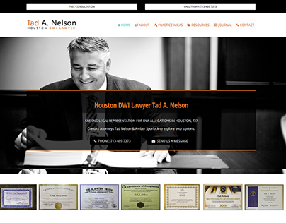 Web Design for a Prominent Houston DWI Lawyer