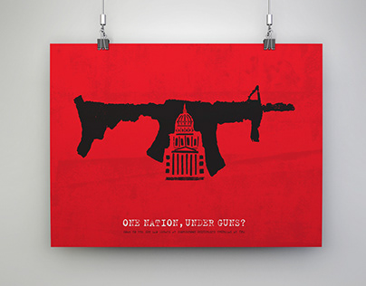 Gun Violence Social Issues Poster