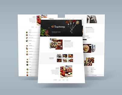 Aperçu de site Web d'un restaurant indien www.o-tandoor