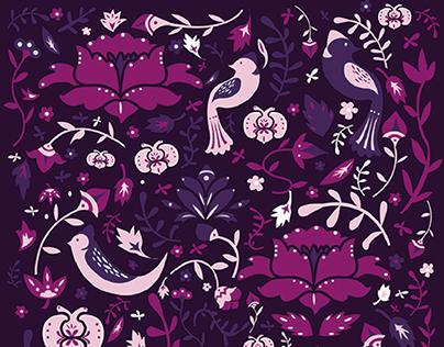 花語鳥視覺形象設計 flower pattern