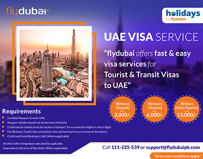 Flyer for VISA SERVICE | holidays by flydubai