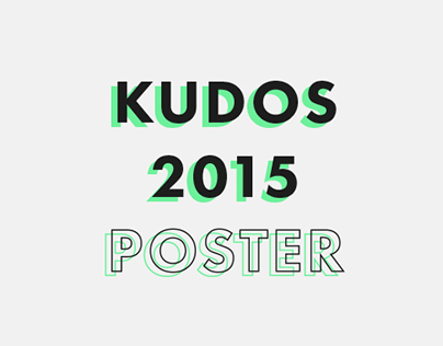 Poster Design - The Kudos Awards 2015