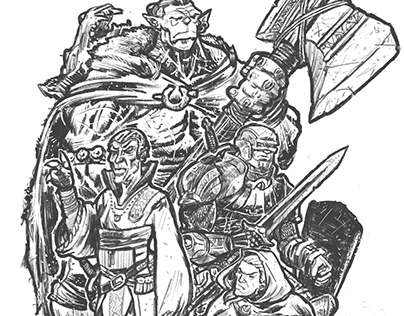 GAME NIGHT - D&D Group Drawing