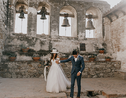 Modern Wedding at Historic Mission