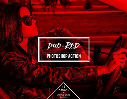 Freebie: Duo- Red Duotone Photoshop Action