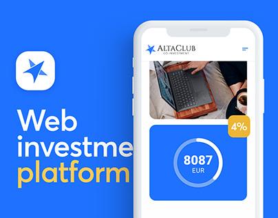 UI/UX - Web investment platform