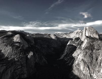 Half Dome/ Yosemite Valley from Glacier Point