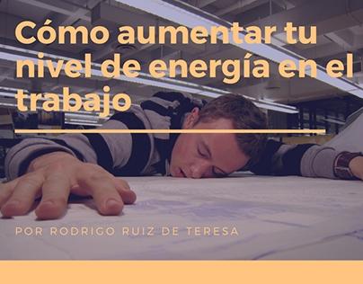 Cómo Aumentar Tu Nivel de Energía en el Trabajo
