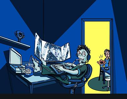 Illustrations, the gamer