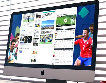 Copa América 2015-Minisite