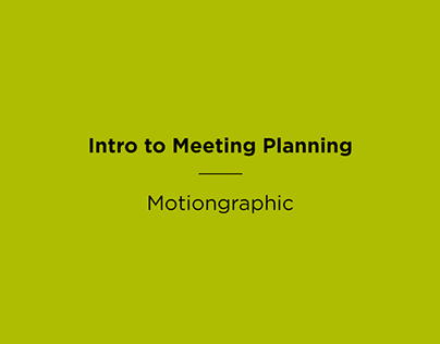 Intro to Avant Healthcare's Meeting Planning Services