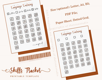 Skills Tracker Template | Printable & Digital