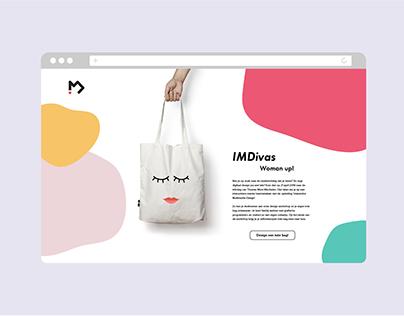 IMDivas Landing page