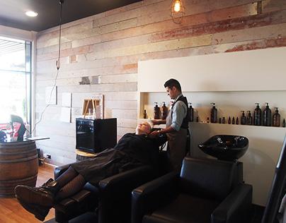 R&B Haircraft interior & signage design