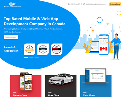 Landing Page Website Design for Auxano Global Services