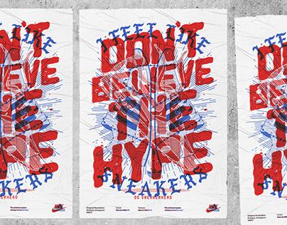 Sneakerhead illustration Adidas & Nike crossover