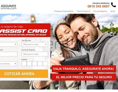 Asegurateonline.com - Landing page