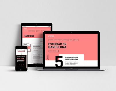 ESTUDIAR EN BARCELONA | Web Design