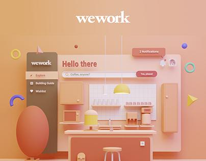 WeWork Community Bar - 3D
