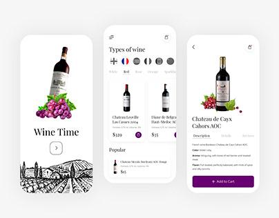 Wine Time Mobile App - UX/UI Design