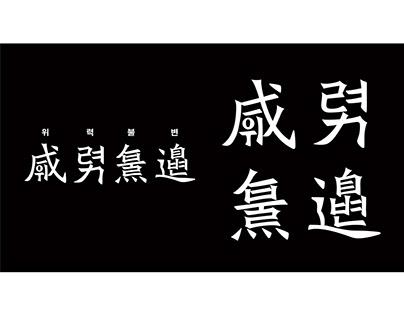 化词——中韩合体字实验