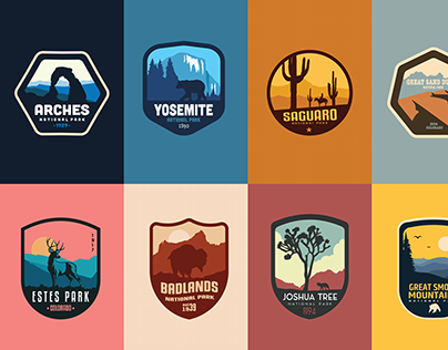 National Parks Stickers