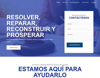 Web - Estudio Jurídico María Guadalupe Juárez