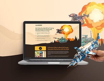 Allessimo - Mockup Landing Page Design