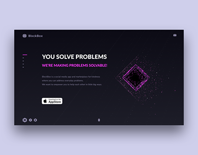 Landing page background animation
