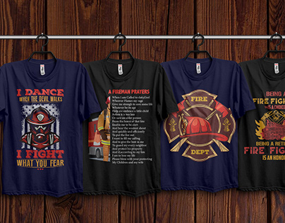 Firefighter T-Shirts Design Free Download