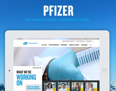 Pfizer Integrated Annual & Responsibility Report 2015